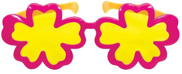 Giant Hibiscus Plastic Sunglasses