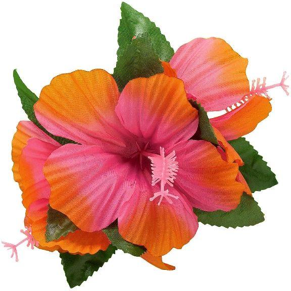 Hibiscus Barrette-Pink