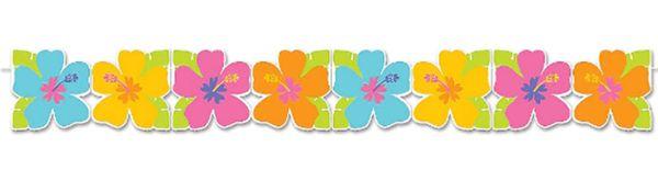 Hibiscus Printed Paper Garland, 8ft