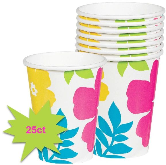 Hibiscus White Cups, 9oz - 25ct