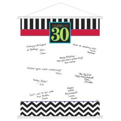 30th Celebration Sign-In Scroll