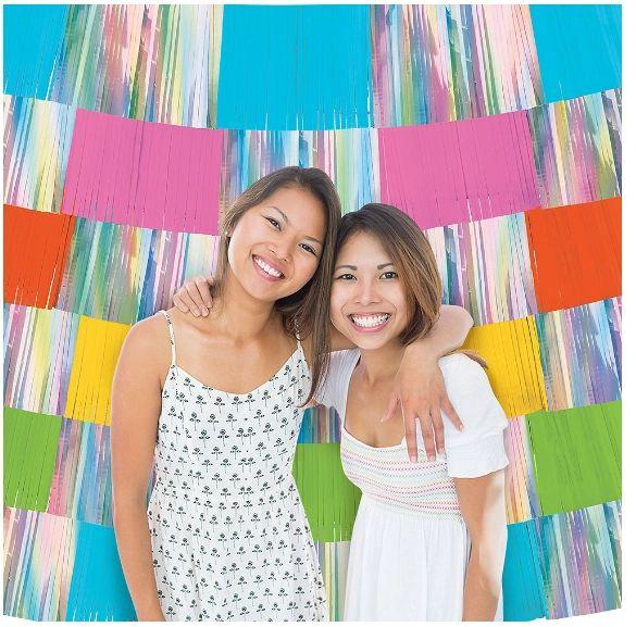 Foil Decorating Backdrop - Multi, 9ct