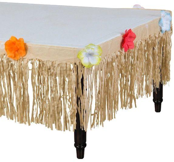 Natural Grass Table Skirt, 9ft