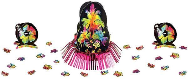 Neon Hibiscus Table Decorating Kit, 23pc