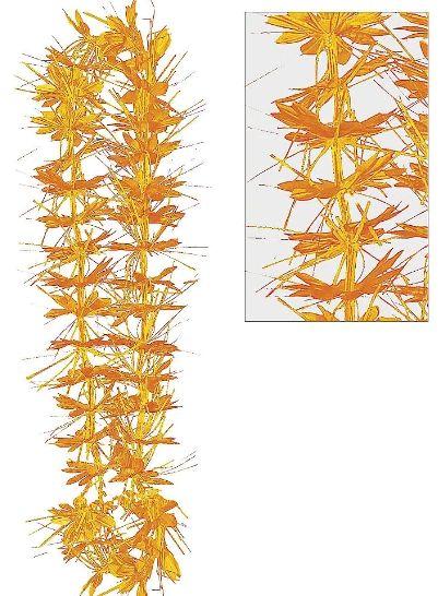 Orange Tinsel Lei