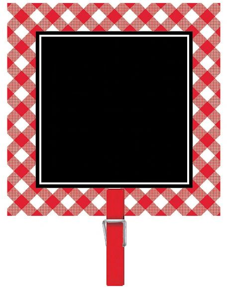 Picnic Party Chalkboard Clips, 8ct