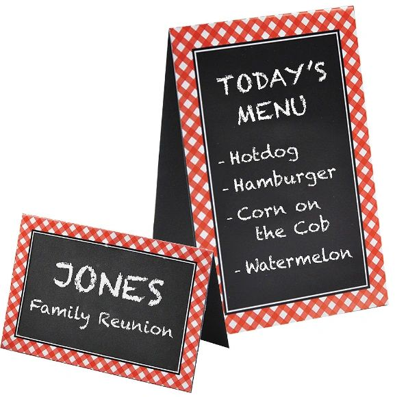 Picnic Party Chalkboard Tent Cards, 8ct