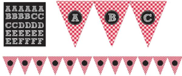 Picnic Party Personalized Pennant Banner, 26ft