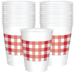 Picnic Party Plastic Cups, 25ct