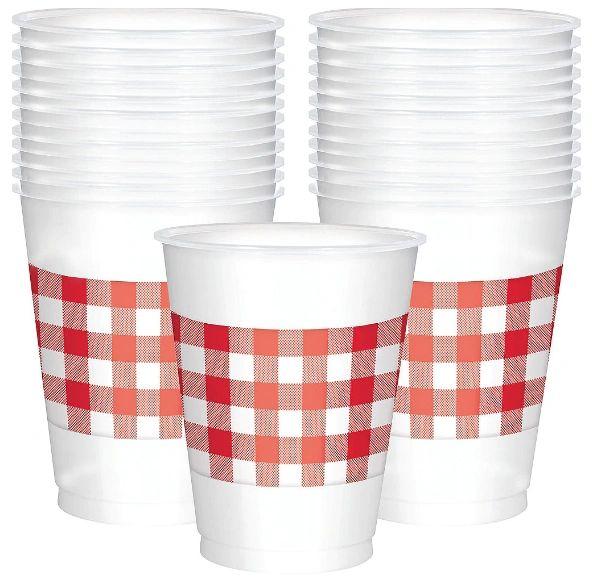 Picnic Party Plastic Cups, 16oz - 25ct