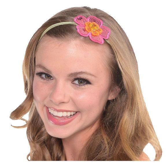Sequin Hibiscus Elastic Headband
