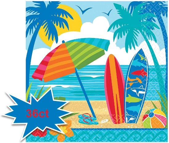 Sun And Surf Luncheon Napkins, 36ct