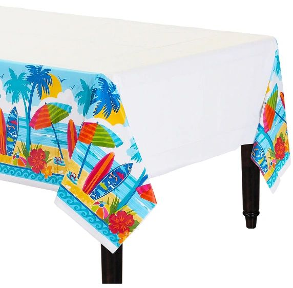 Sun And Surf Plastic Tablecover