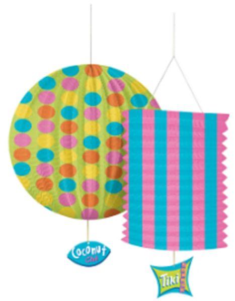 Tiki Lounge Party Lantern, 2ct