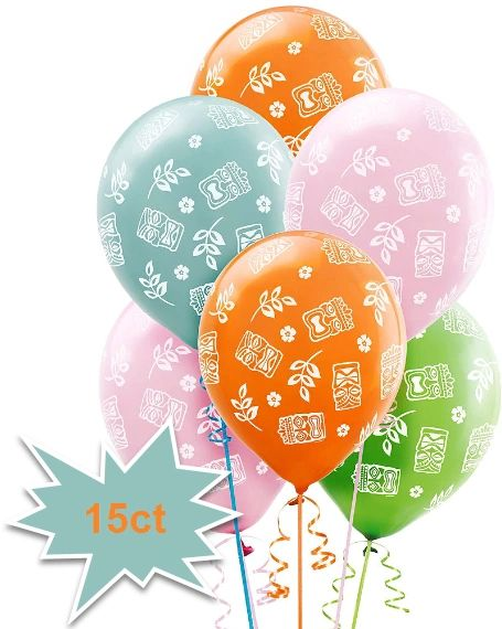 Tiki Latex Balloons, 15ct