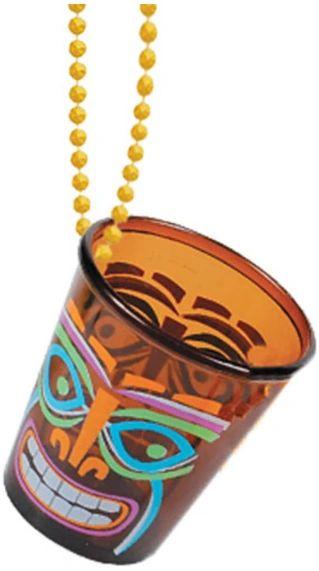 """Totally Tiki Shot Glass Necklace 2oz - 20"""""""