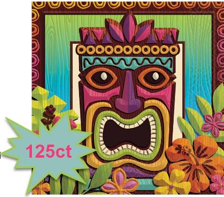 Tropical Tiki Beverage Napkins, 125ct