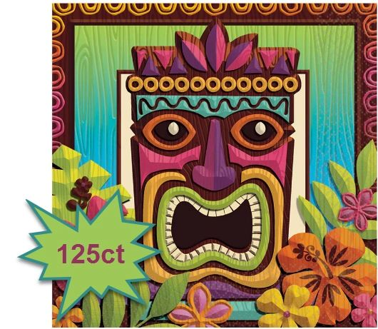 Tropical Tiki Luncheon Napkins, 125ct