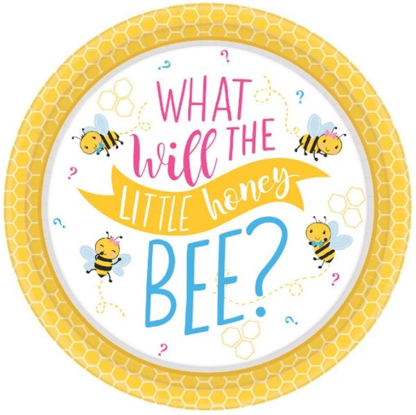 "What Will It Bee? Dessert Plates, 7"" - 8ct"