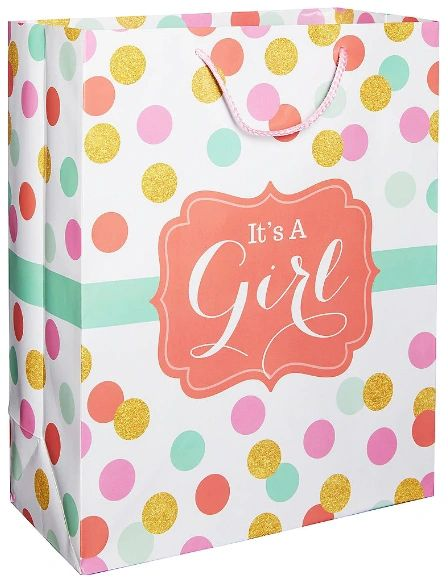 Pastel & Gold Girl Baby Shower Gift Bag
