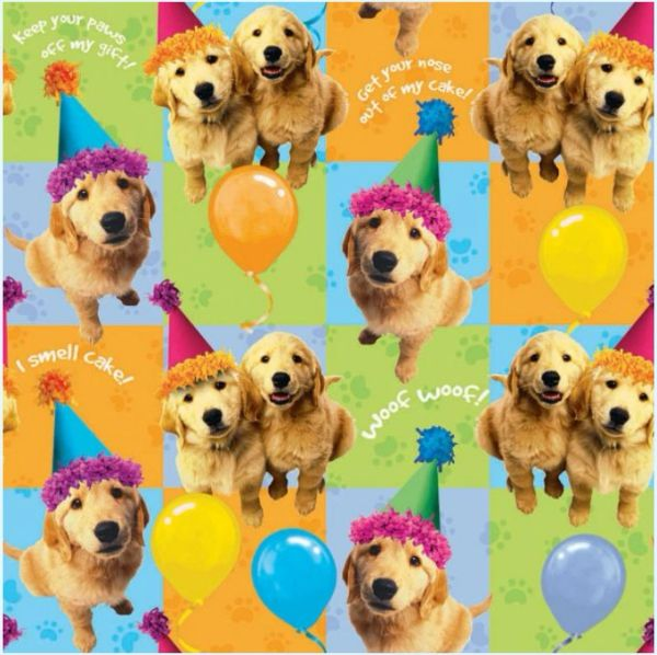 Puppy Printed Gift Wrap