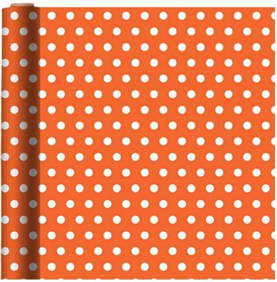 Jumbo Orange Polka Dot Gift Wrap
