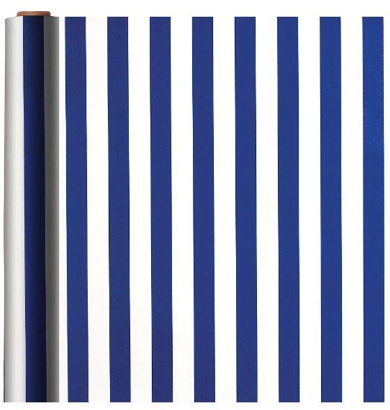 Stripe - Royal Blue Printed Jumbo Gift Wrap w/Hang Tab, 16ft