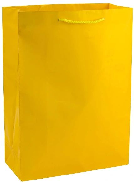 Solid Glossy Yellow Sunshine Extra Large Bag