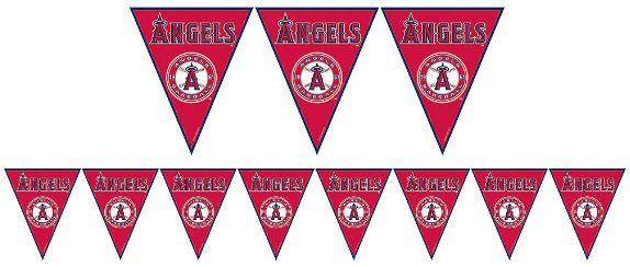 Los Angeles Angels Major League Baseball Pennant Banner, 12ft