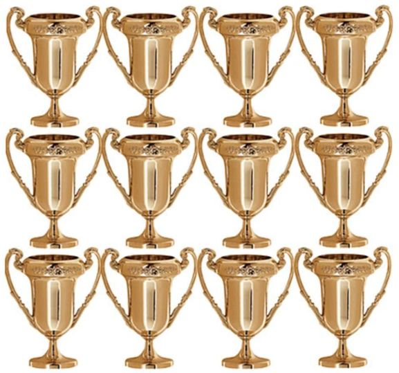 Mini Award Trophies, 12ct