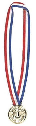 """Award Medal Necklace - Gold, 17"""""""