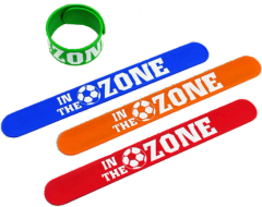 """IN THE ZONE"" Soccer Slap Bracelet"