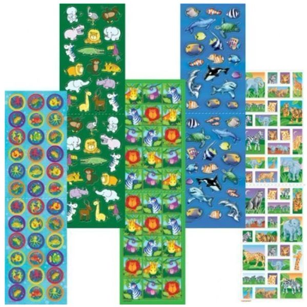 Animal Sticker Strip, 350ct