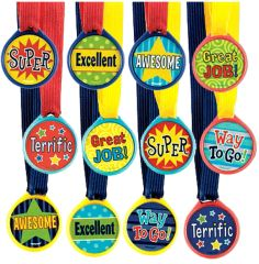 Assorted Award Medals, 12ct