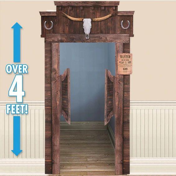 Western Deluxe Functional Saloon Door Decoration