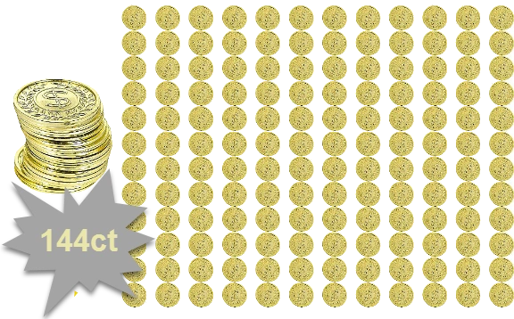 Casino Gold Coins, 144ct