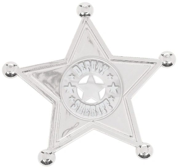 Silver Sheriff Badges, 8ct