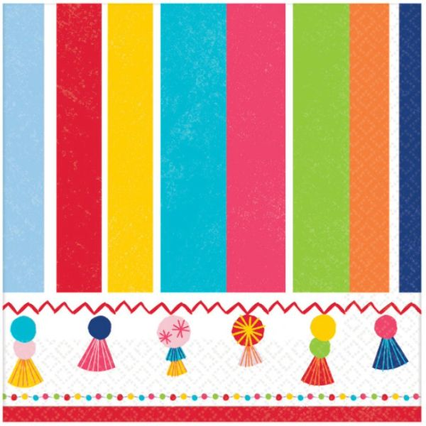 Fiesta Time Beverage Napkins, 16ct