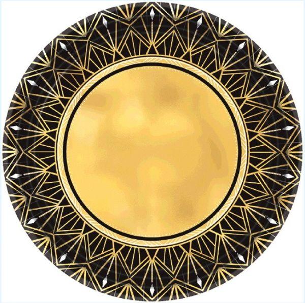 "Glitz & Glam Metallic Dessert Plates, 7"" - 8ct"