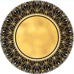 "Glitz & Glam Metallic Dinner Plates, 10 1/2"" - 8ct"