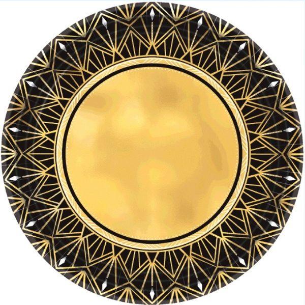 "Glitz & Glam Metallic Dinner Plates, 10 1/2"" - 8ct"