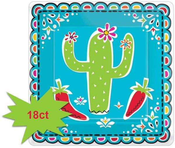 """Picado De Papel Dessert Plates, 7"""" - 18ct"""