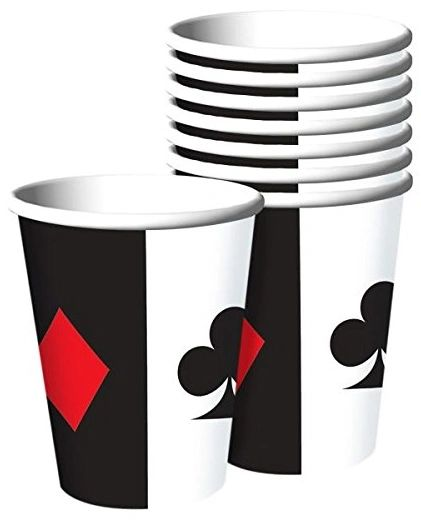 Place Your Bets Casino Cups 9oz - 8ct