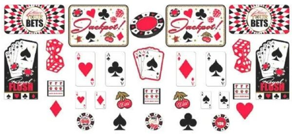 Place Your Bets Casino Cutouts, 30ct