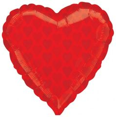 "Casino Red Heart Balloon 18"""