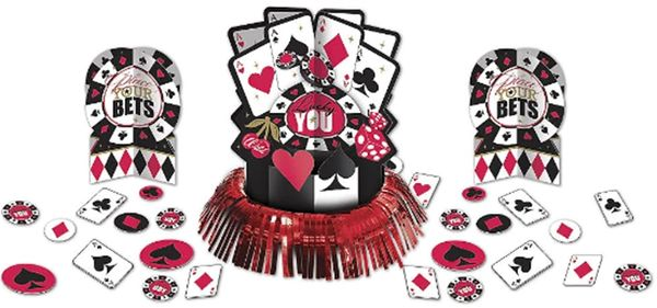 Place Your Bets Casino Table Decorating Kit, 23pc