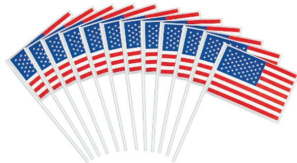 American Flag - Cotton/Plastic, 12ct