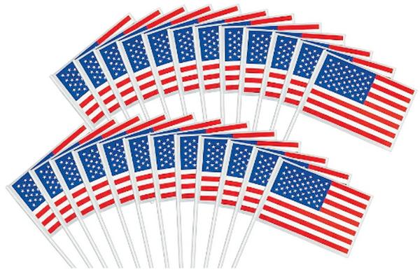 American Flag - Plastic, 48ct