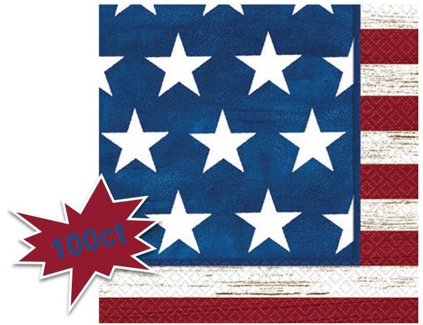 Americana Beverage Napkins, 100ct