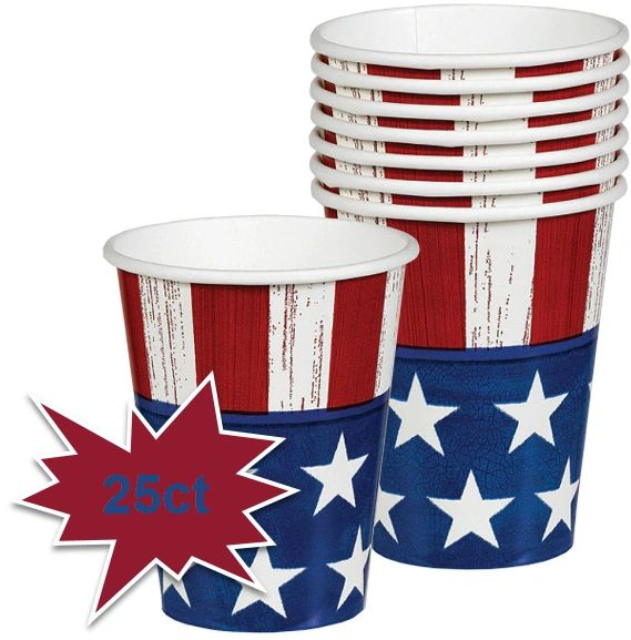 Americana Cups, 9oz - 25ct